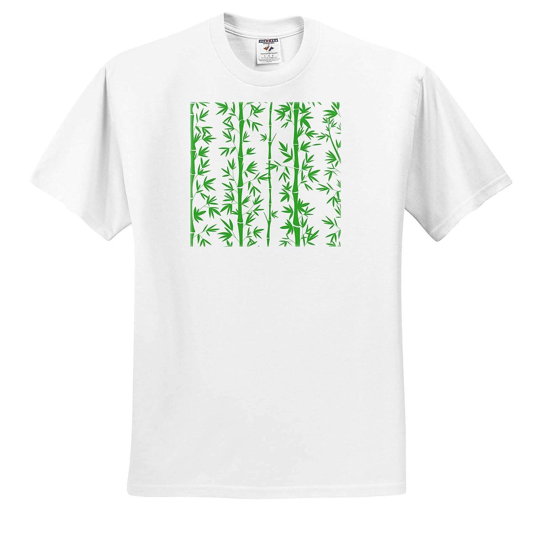 T-Shirts Stylish Pattern Bamboo on White Background Trendy Work 3dRose Sven Herkenrath Art