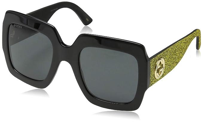 Gucci GG0102S 002, Gafas de Sol para Mujer, Negro (Black/Grey)