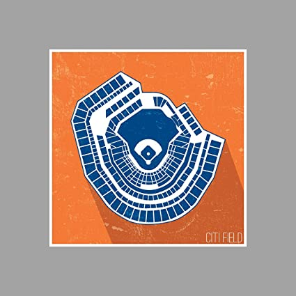 Amazoncom Artsycanvas Citi Field Seating Map Baseball Seating
