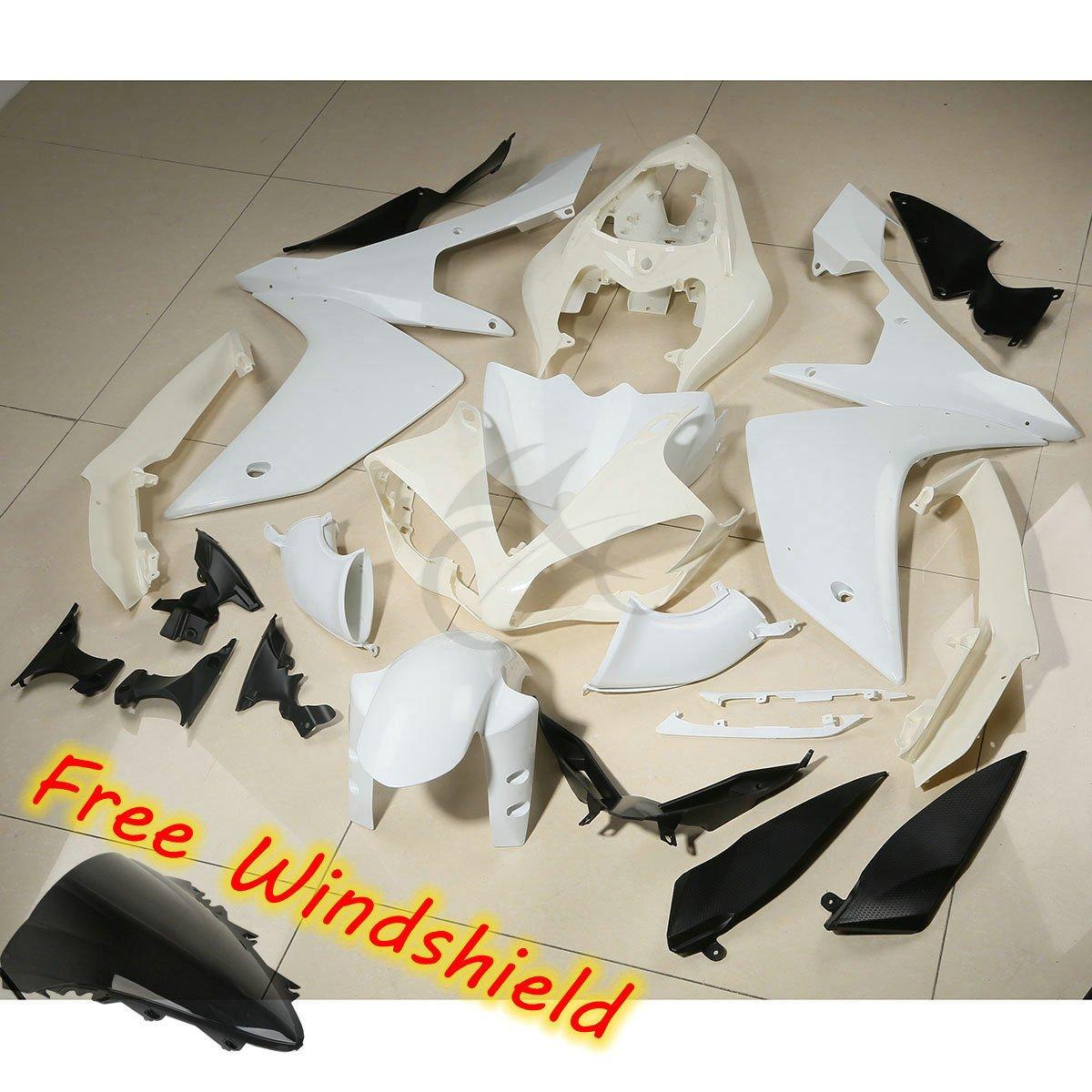 XFMT Motorcycle White Unpainted ABS Plastic Fairing Cowl Bodywork Set For YAMAHA YZF R1 2007 2008