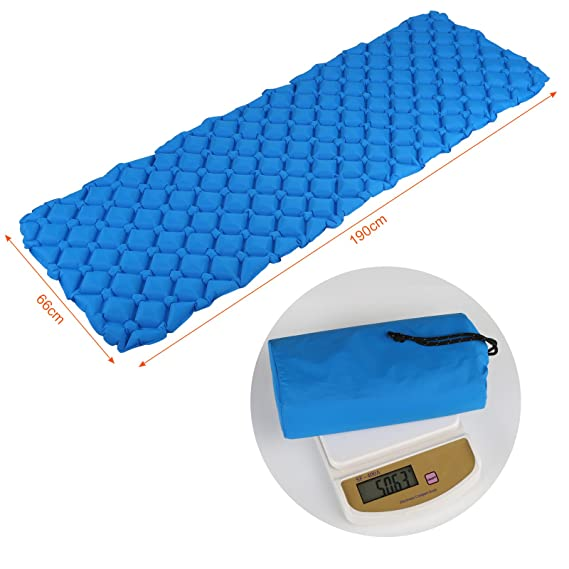 Amazon.com : GWHOLE Lightweight Sleeping Pad Inflatable Sleeping Bag Pad for Backpacking Hiking Camping : Sports & Outdoors