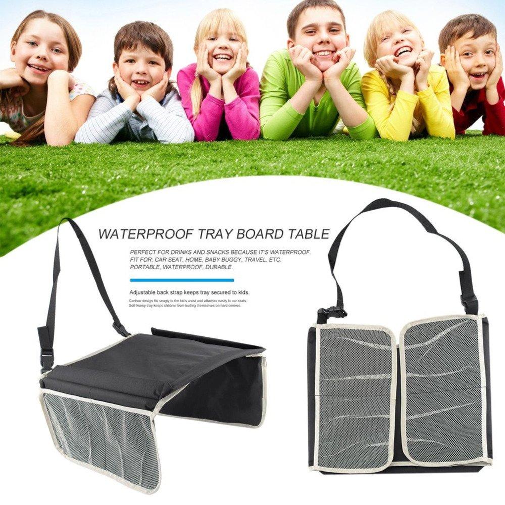 Fengruiui Baby Kids tabella del seggiolino auto portatile impermeabile piastra da scrivania in poliestere vassoio passeggino seggiolino di sicurezza per bambini nuovo S