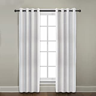 product image for Veratex Contemporary Style 100% Linen Construction Made In The USA Living Room Grommet Window Panel Curtain, Pearl, 84""