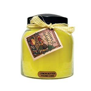 A Cheerful Giver Lemon Butter Pound Cake Papa Jar Candle, 34-Ounce