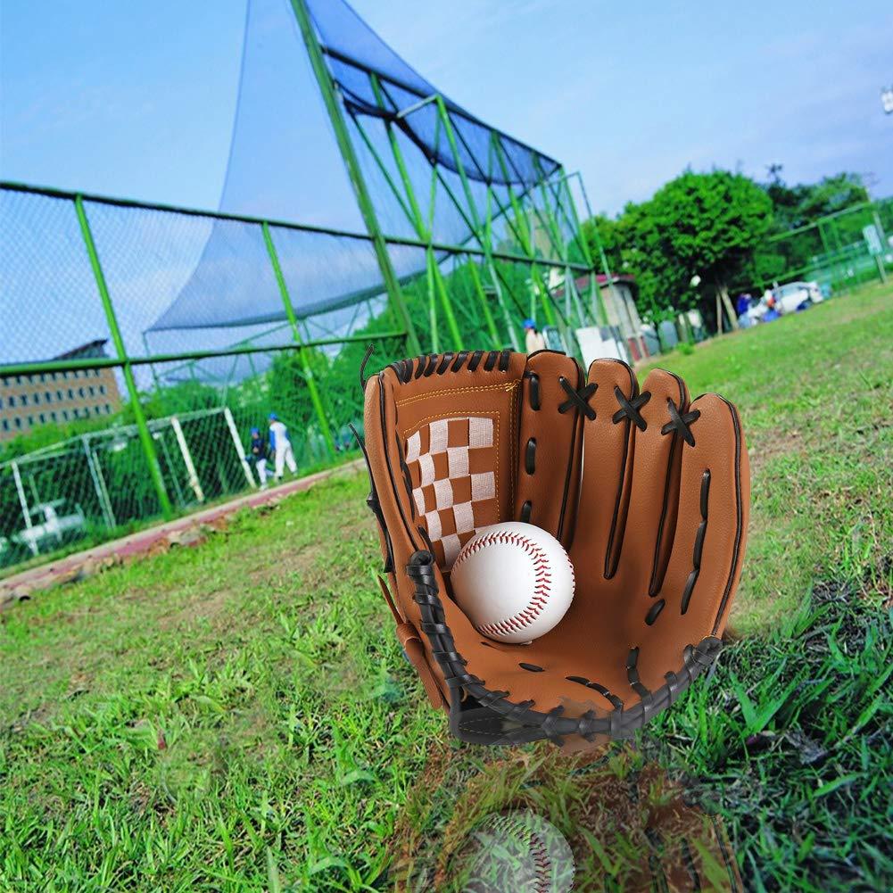 12,5 Pouces pour Accessoires de Plein air pour Enfants Adultes 10,5 Pouces vap26 Gants de Base-Ball Gants de Baseball Gants de Catcher Mitaines de Softball Gauche