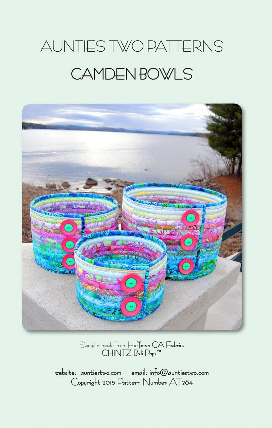 BALI BOWLS SEWING PATTERN from Aunties Two Patterns