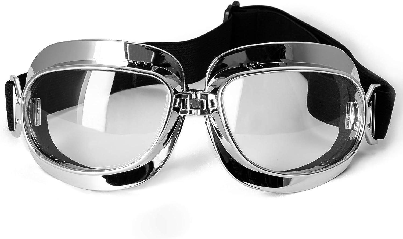 Motorrad Schutzbrille Staubdichte Vintage Sport Motorradbrille Aviator
