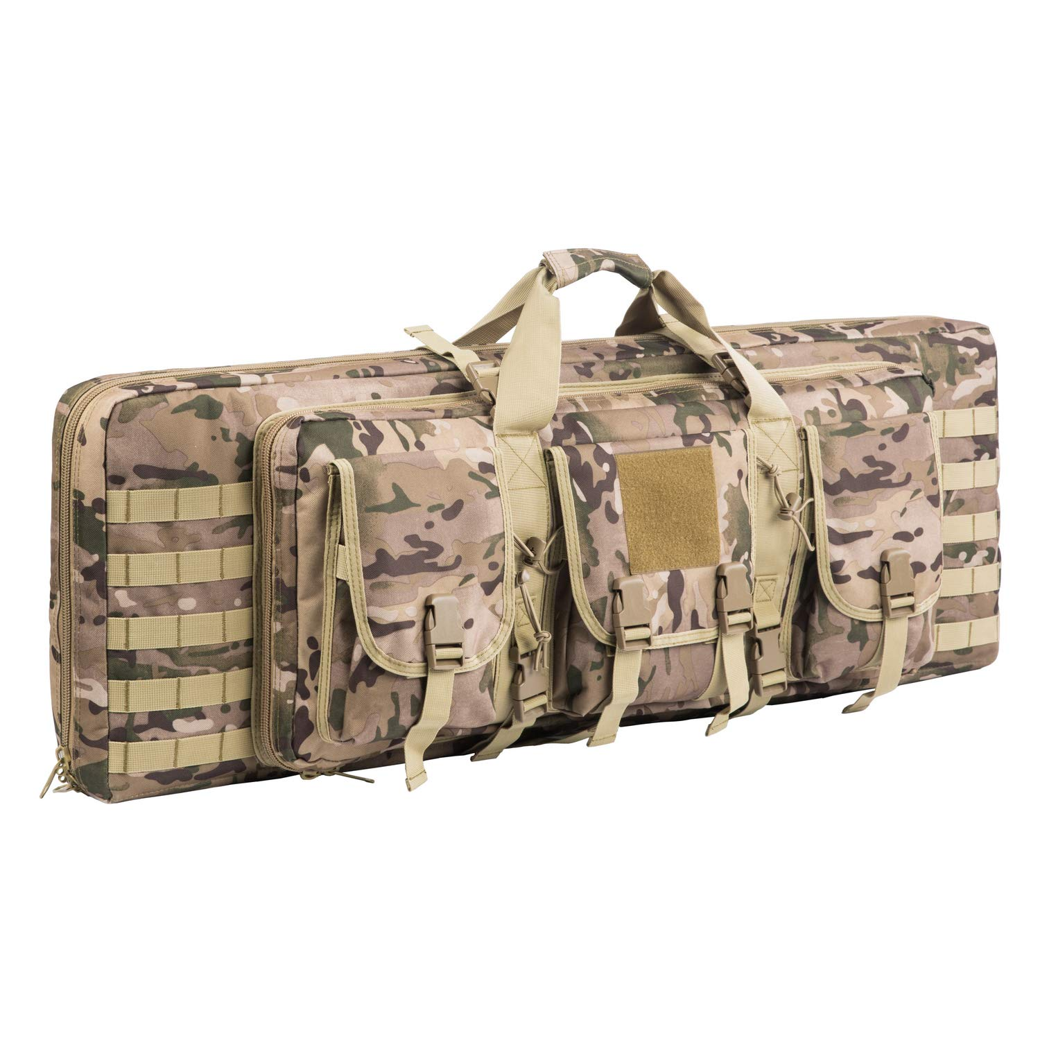 AK47/AR16 Tactical Rifle Case Double Carbine Bag Outdoor Molle Deluxe Double Rifle Gun Bag Padded Long Gun Case & Rifle Storage Backpack(2 Sizes and 6 Colors to chooese from) (Multicam, 42inch) by XWLSPORT