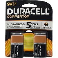 Bateria 9V DURACELL com 2 unidades