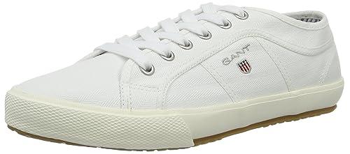 Gant 14638613 - Zapatillas de Lona Hombre, Color Blanco, Talla 44: Amazon.es: Zapatos y complementos
