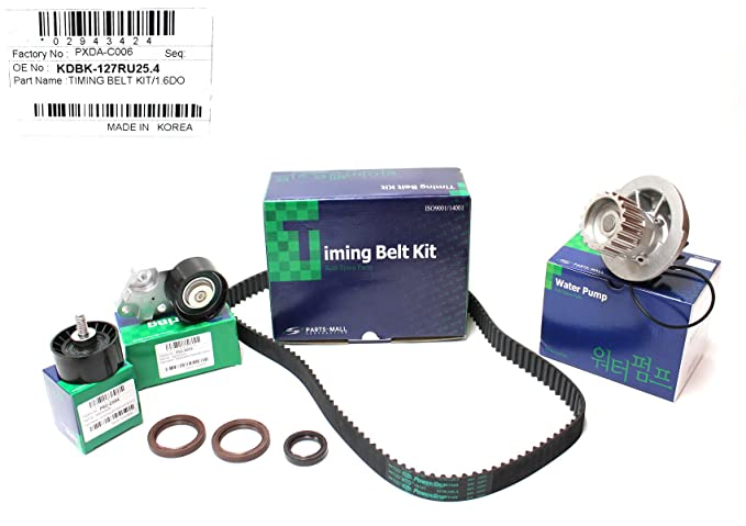 Amazon.com: Timing Belt Kit for Chevy Chevorlet Aveo (Belt Gates/tensioner Pmc/ulleypmc) (93746917) with Watet Pump 96352650 Part:kdbk127ru254: Automotive