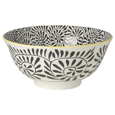 Now Designs Akita Stamped Bowl, Black, Set of 6