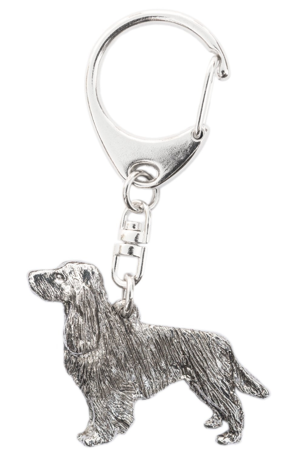 Silver Plated Brooch with tail English Springer Spaniel