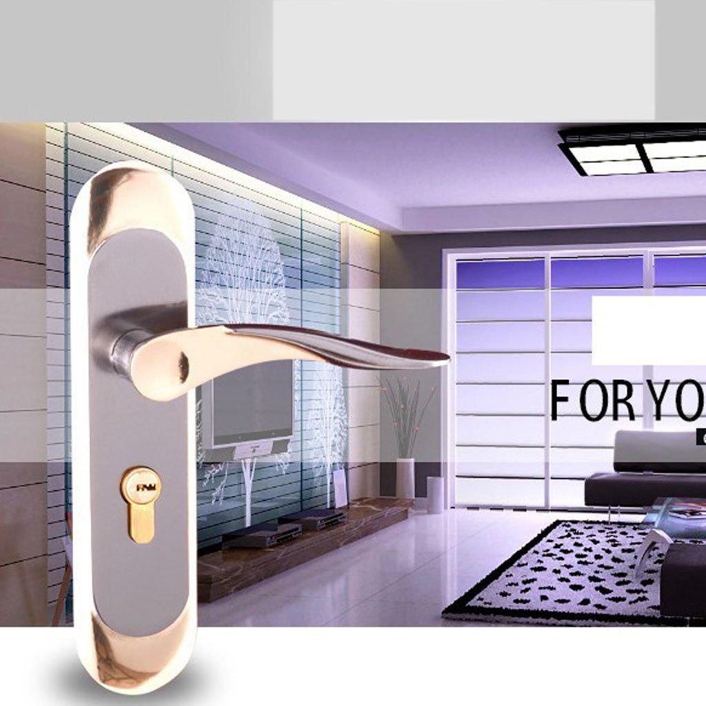 Baoblaze Aluminum Door Handle Sets Lever LATCH LOCK BEDROOM BATHROOMPRIVACY PACKS #5 by Baoblaze (Image #4)