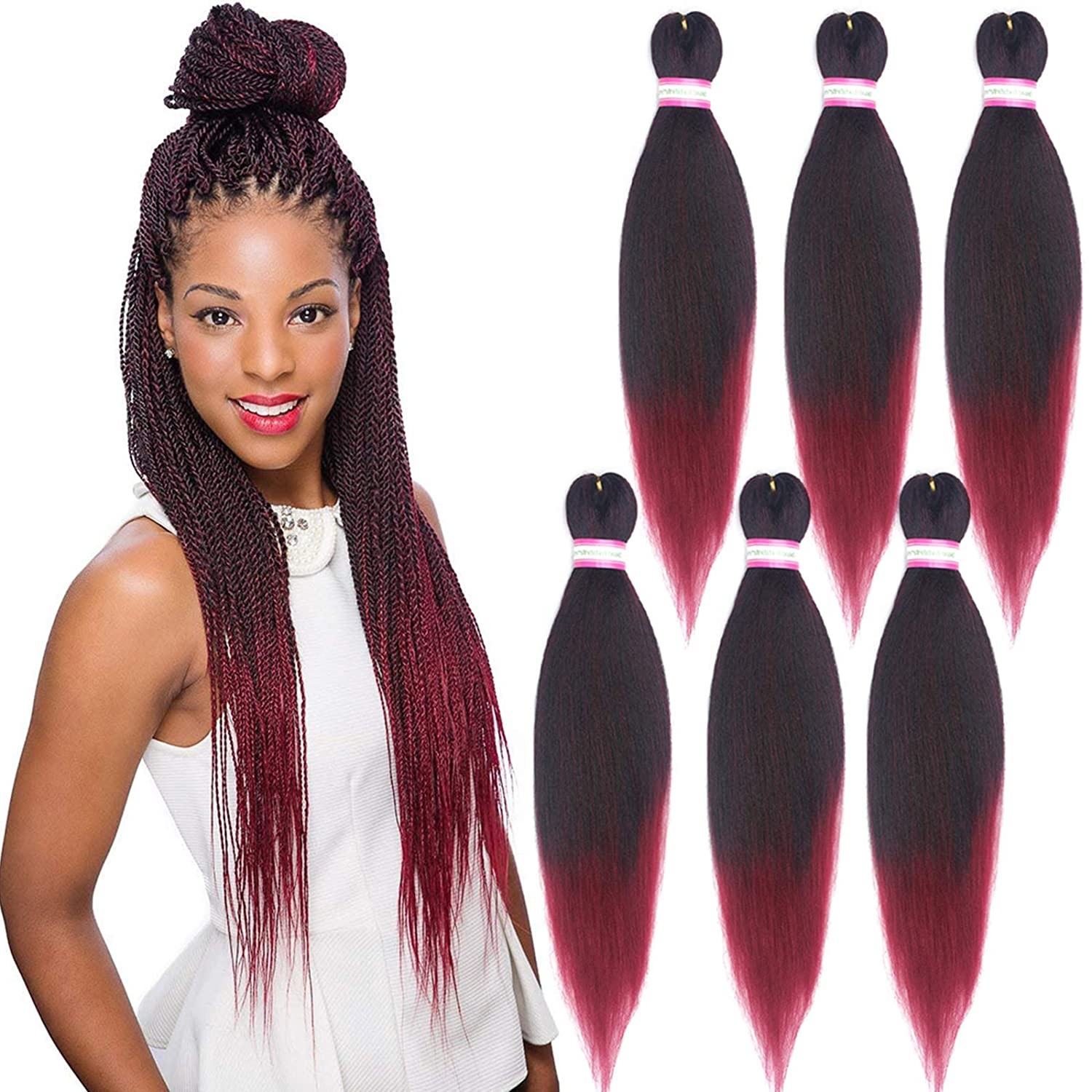 Pre Stretched Braiding Hair 11 Inch 11 Packs Yaki Synthetic Ombre Color  Professional Braiding Hair Extensions for Crochet Braids Twist Hair