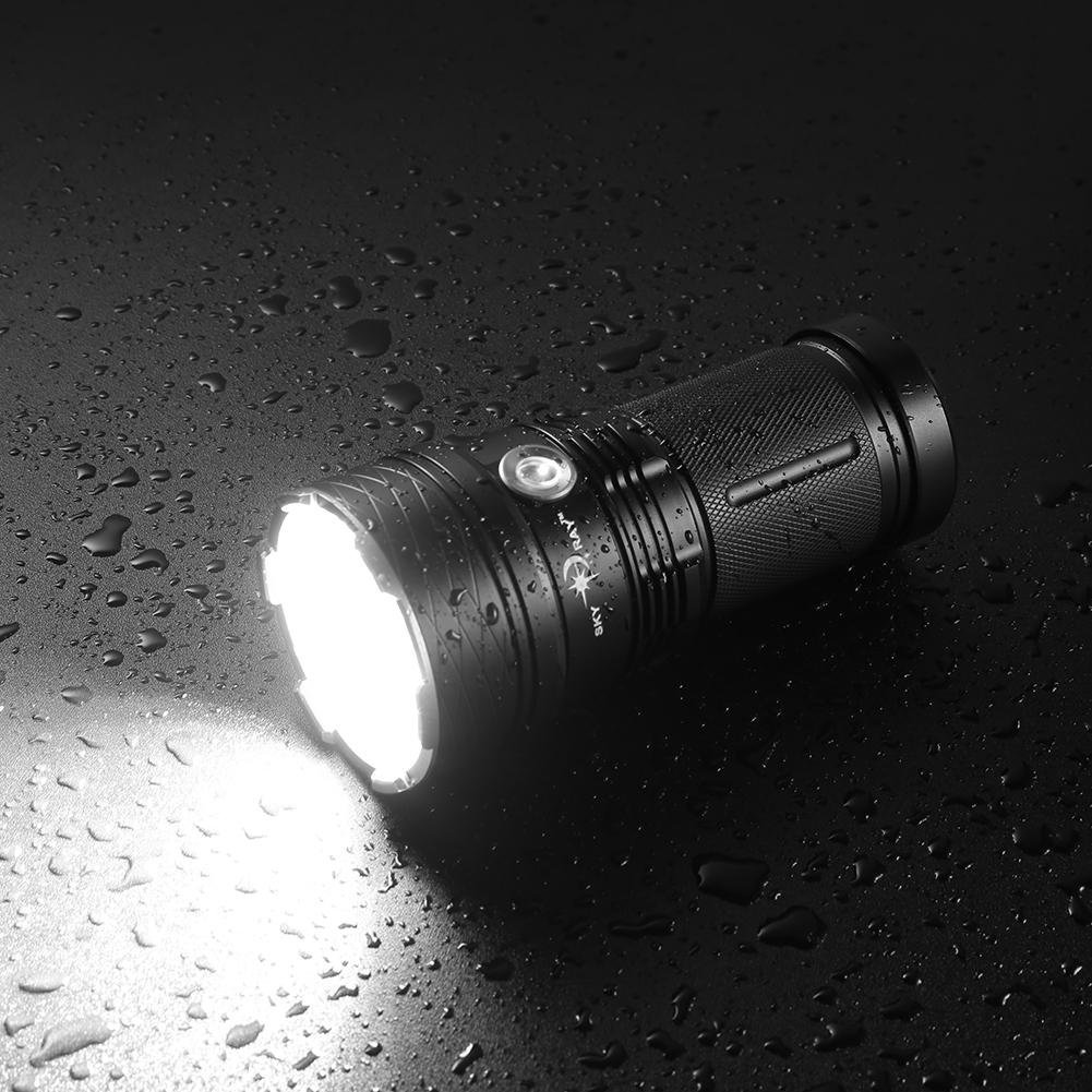 Xintiandi 12 x CREE LED XM-L T6 LED CREE linterna IPX-8 Impermeable 13000LM Linterna Alta Brillante ef3230