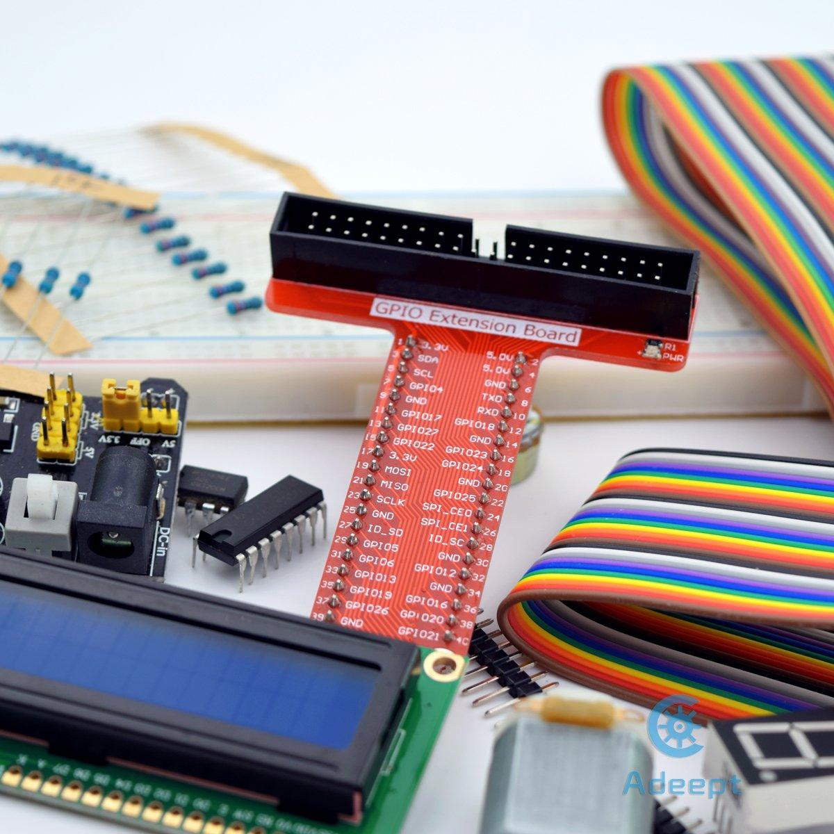 Adeept Starter Kit For Raspberry Pi 3 2 Model B Lcd1602 Motor Wiringpi Blink C