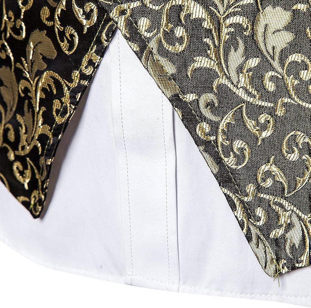 in Jacquard Gilet da Uomo Stampato vestibilit/à Aderente Giacca da Sera Ballo Camicia Senza Maniche Matrimonio Loozykit Stile Casual Club