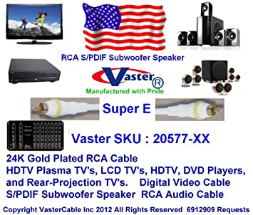 superecable – HDTV Video Digital/subwoofer/coaxial Digital/S/PDIF Cable de