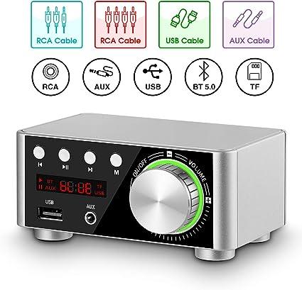 US STOCK SURE 2 X 100 Watt  Class D Audio Bluetooth Amplifier IR Control USB