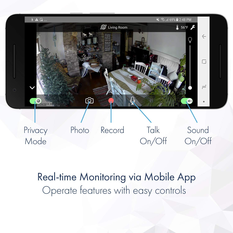 Black Panasonic KXHNC855B Homehawk Floor Indoor Camera Security and Surveillance