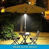 AMIR Rechargeable Patio Umbrella Lights, Cordless