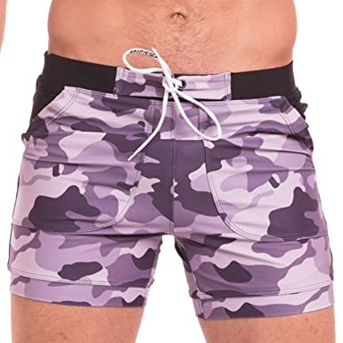 c2e828116f Taddlee Sexy Mens Swimwear Swimsuits Plus Size Long Basic Camo Swim Board  Shorts: Amazon.co.uk: Clothing