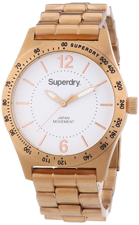 Superdry Damen-Armbanduhr Analog Quarz Edelstahl beschichtet SYL124RGM