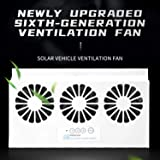 Black Solar Powered Car Exhaust Fan SELLMORE Solar Powered Car Ventilator Car Radiator,Eliminate The Peculiar Smell Inside The Car and Can Be Used for General Types of Cars