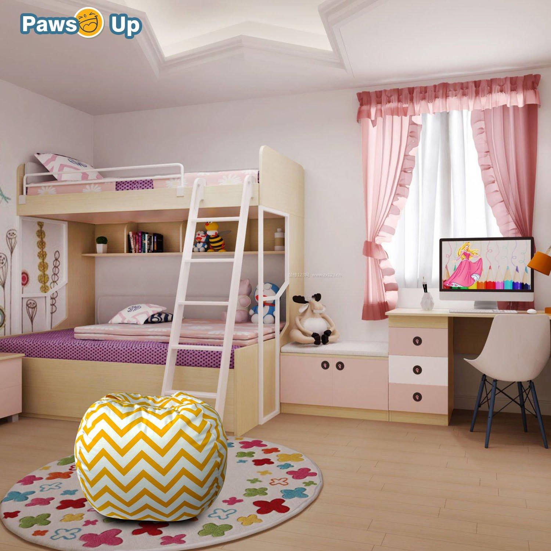 Paws Up - Puf de almacenamiento con diseño de animales - lona de algodón premium - almacenamiento perfecto para juguetes/mantas/almohadas/toallas/lotes: ...