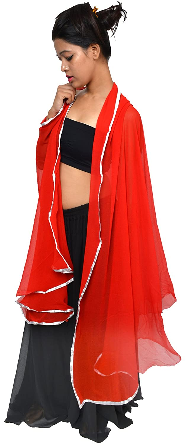 Wevez Women's Lot of 5 Mix Color Belly Dance Chiffon Veils, One Size, Assorted Sto2610