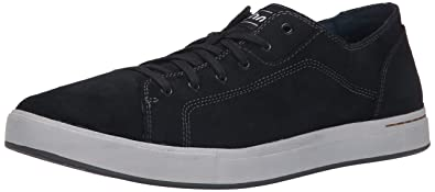 Ahnu Men's Stockton Leather Lace Up Sneaker, New Black, ...