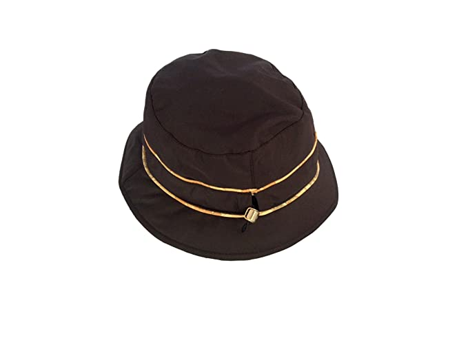 Cappello alla pescatora anti pioggia donna Alviero Martini Prima Classe  colore Dark brown (testa di moro) ba64c130491d