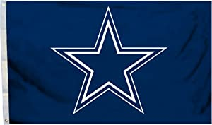 Fremont Die NFL Dallas Cowboys 3' x 5' Flag with Grommets, 3 x 5-Foot, Logo