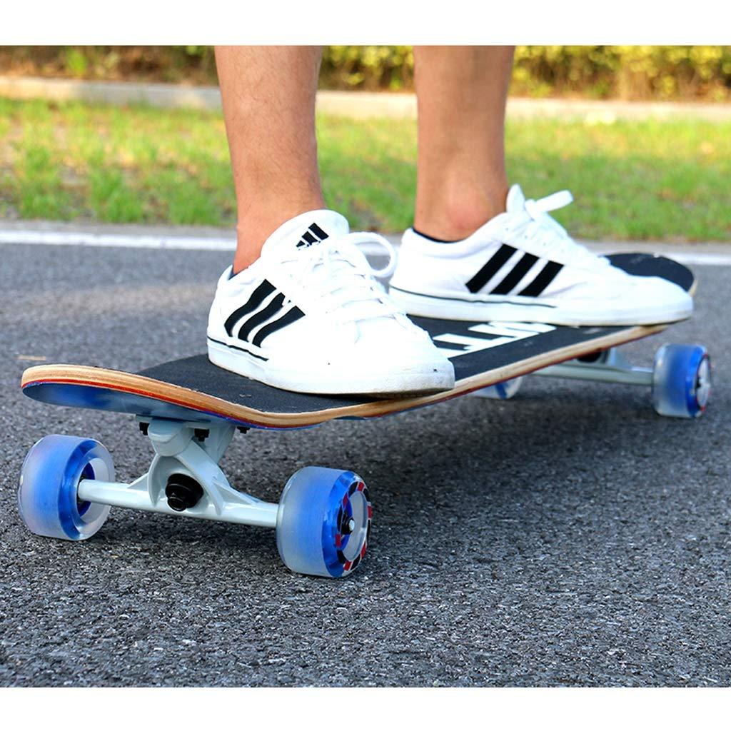 DUWEN-Skateboard Acero Longboard Scooter a Quattro Ruote Teen Brush Street Street Street Ragazzi e Ragazze Dance Board Adulto principiante Skateboard (con Flash Wheel) (Coloreee   A) B07PBFQBQC Parent | Diversi stili e stili  | Design moderno  | Online Shop  | Buon  d6f972
