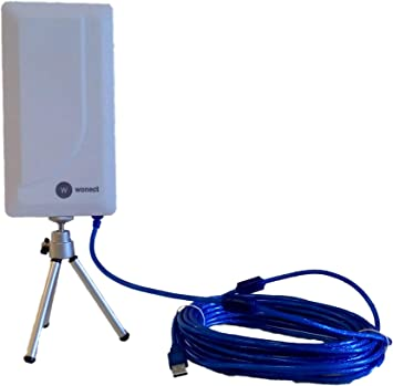 Antena WiFi Wonect N89A USB Largo Alcance Cable Exterior Longitud (n89a 10m)