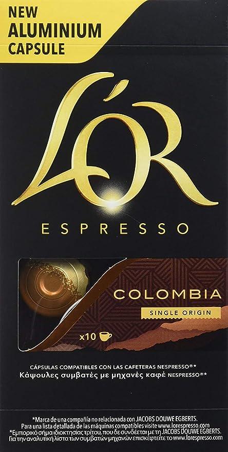 Pack Philips LOR Barista LM8012/60 - Cafetera compatible con cápsula individual/doble, 19 bares presión, depósito 1L, color negro + LOr Espresso ...