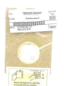 Papel de bolsas para aspiradora Nilfisk GD110/GD111/vd10 10 ...