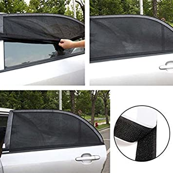 FASHIONROAD 2 Pack Car Side Window Sunshades Universal Roller Blind Car Sun Shade Side Window to Protect Kids Pets from Harmful UV Rays and Heat Baby