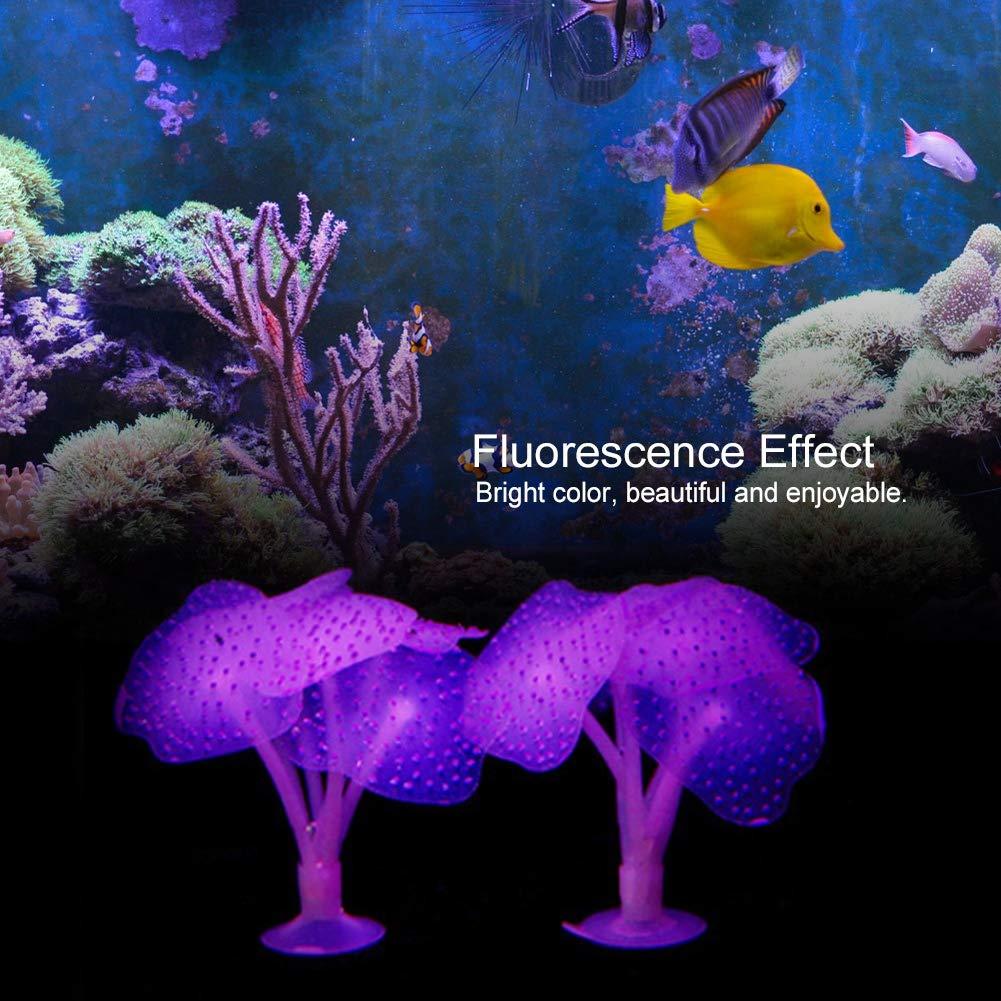 Artificial Coral Aquarium Silicone Simulation Plant Fish Tank Underwater Landscaping Ornament Orange