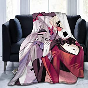 "MYSTCOVER Blanket Ultra Soft Bedspread Microfiber Fleece Blanket Durable Home Decor Perfect for Couch Sofa Beds Hazbin Hotel 80""X60"""