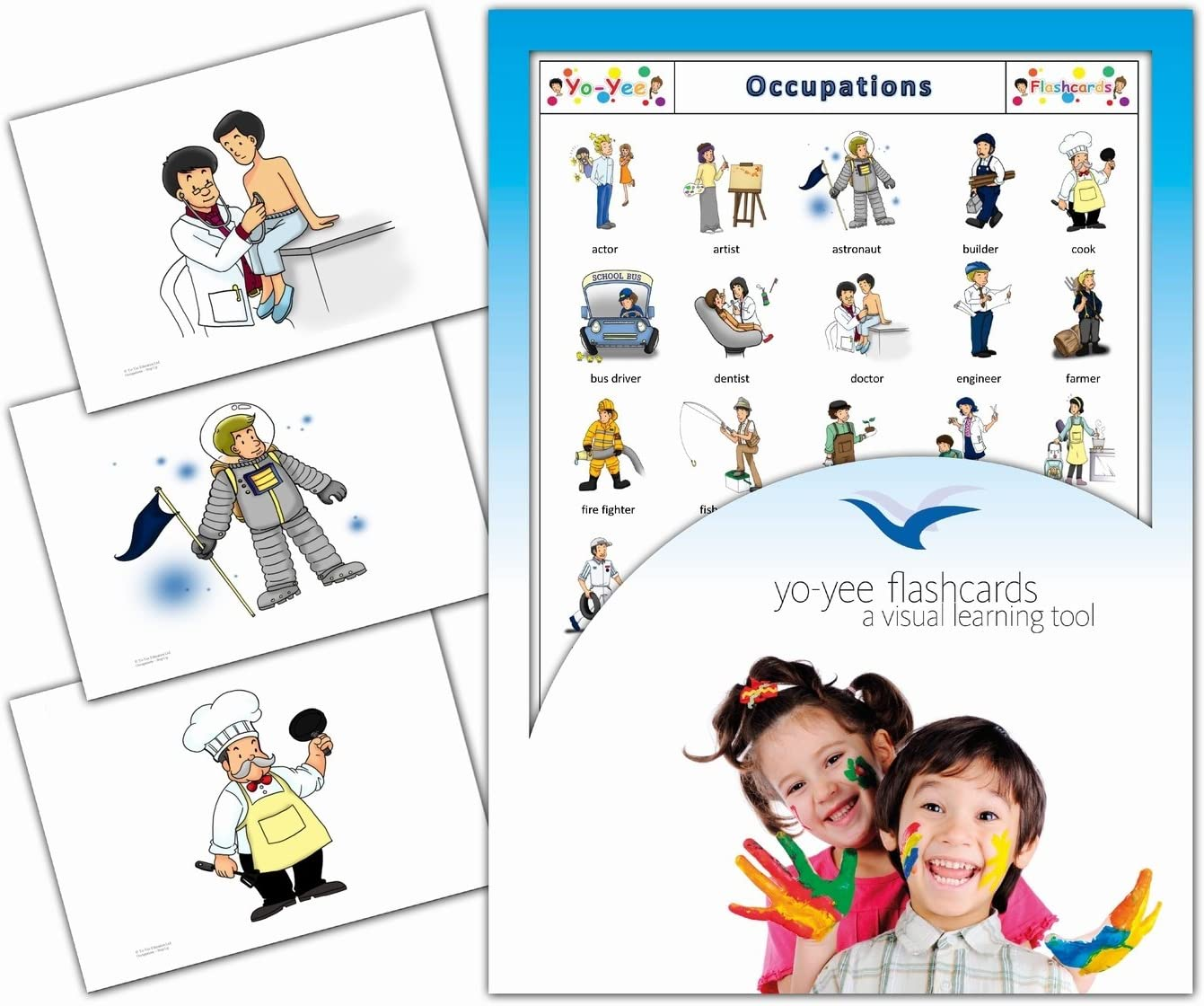 Autism and Speech Therapy Adults Perfect for Kids ESL // EFL Teaching Materials and Resources Occupations and Jobs Flashcards Children