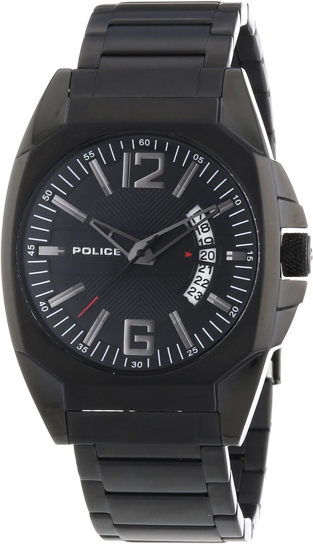 Police 12897JSB/02M - Reloj analógico de Cuarzo para Hombre con Correa de Acero Inoxidable, Color Negro