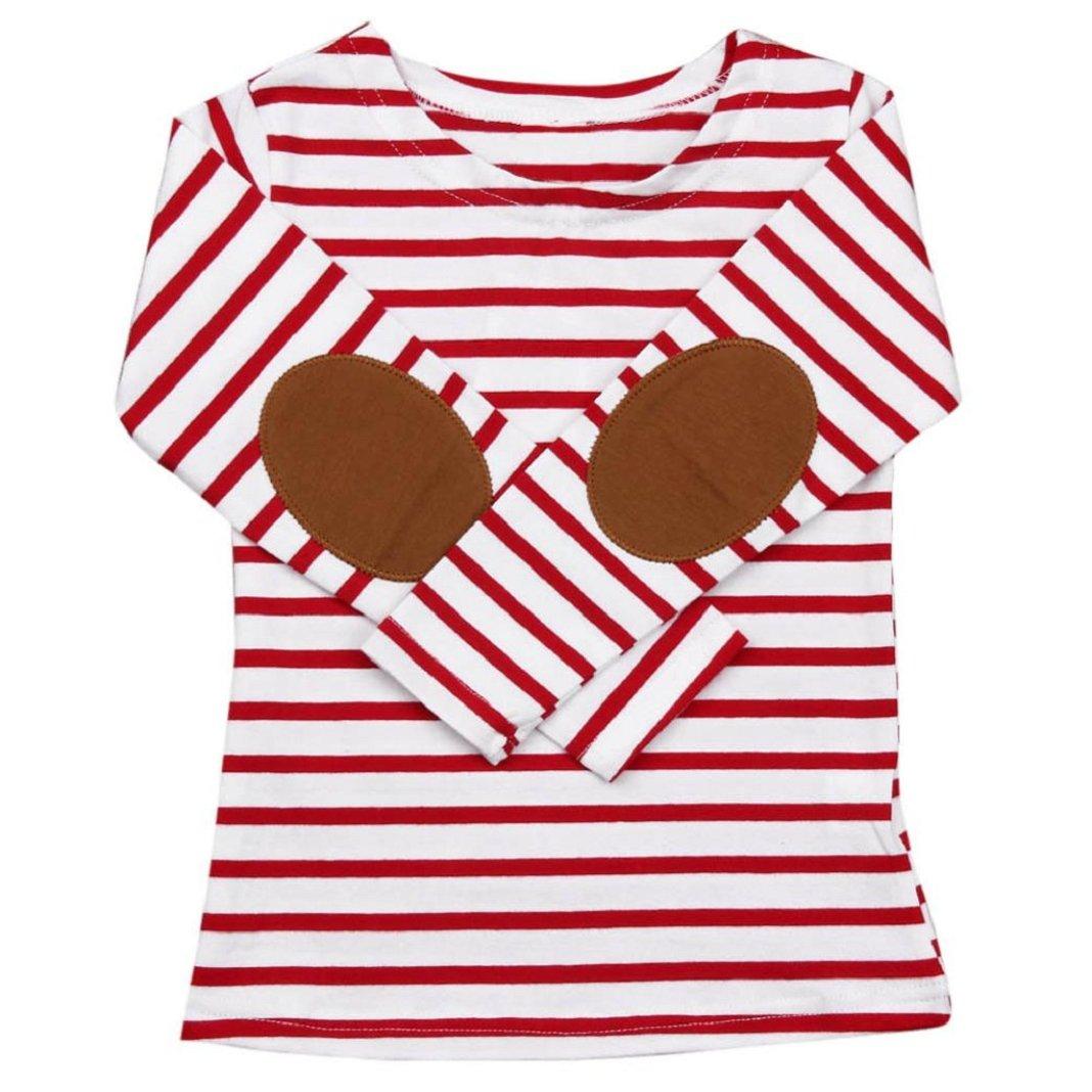 Sisit Pull à rayures à manches longues pour les enfants Nouveaux Tops / Blouses pour votre prix T-shirt à la mode et durable pour un prix très bas