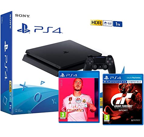 PS4 Slim 500Gb Negra Playstation 4 Consola (Pack 3 Juegos) + FIFA 20 + Crash Team Racing: Nitro Fueled + Ratchet & Clank: Amazon.es: Videojuegos