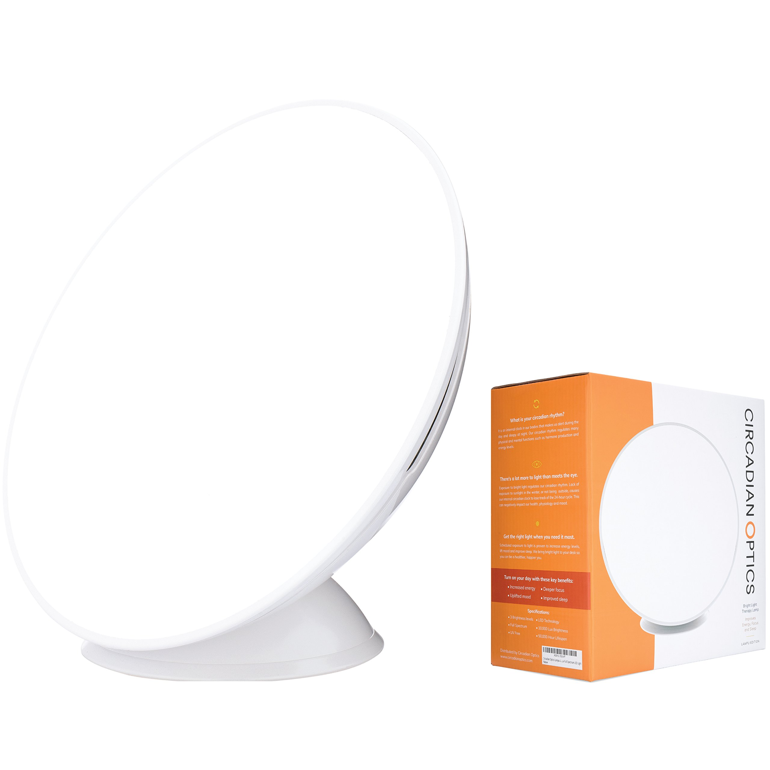 Circadian Optics Lampu Light Therapy Lamp | As Seen On Shark Tank | 10,000 LUX Ultra Bright LED | Full Spectrum UV Free | Organically Round | Turn On Your Day by Circadian Optics