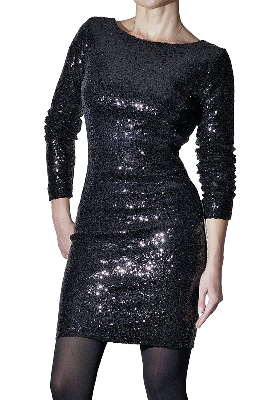 BORDERLINE - Women's Evening Dress with Sequins - STELLA