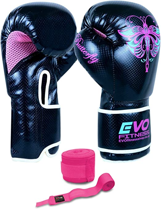 Evo Fitness Rex – Guantes de boxeo de piel Para Artes Marciales Muay Thai Artes Marciales Kick Boxing: Amazon.es: Deportes y aire libre