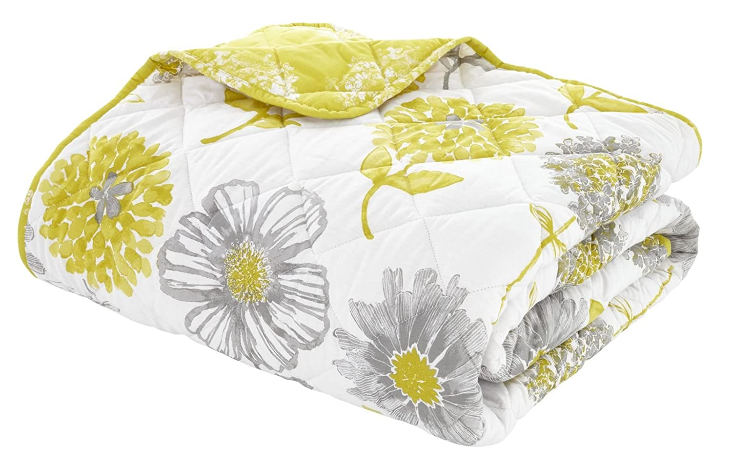Catherine Lansfield Banbury Floral Easy Care Eyelet Curtains Yellow, 66x72 Inch Turner Bianca BD/43463/W/E6672/YE