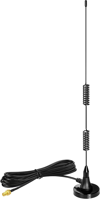 Bingfu Dual Band VHF UHF 136-174MHz 400-470MHz Ham Radio Magnetic Base Antenna Handheld Two Way Radio SMA Female Antenna for Kenwood Wouxun BaoFeng BF-F8HP UV-5R UV-82 BF-888S Ham Radio Walkie Talkie